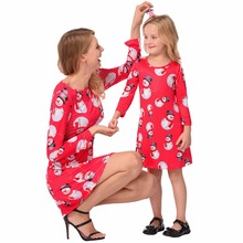 Mother Daughter Party Dress Long Sleeve For Mother Day