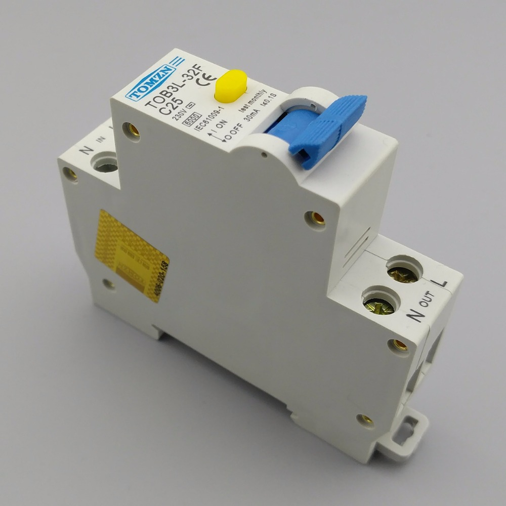 Elegant 18 MM RCBO 25A 1 P + N 6KA Fehlerstromschutzschalter Differential  Automatische Schutzschalter Mit überstromschutz Und Leckage Schutz In 18 MM  RCBO 25A 1 P + ...