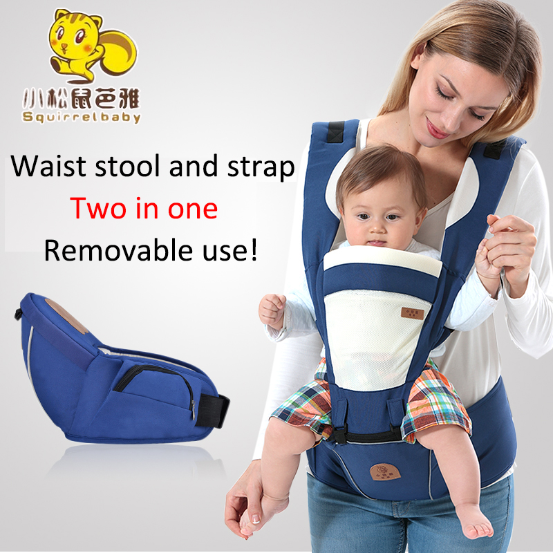 Multifunction Outdoor Kangaroo Baby Carrier Backpack 3-48 Months Baby Four Seasons Breathable Hooded Cotton Hipseat Sling Wrap