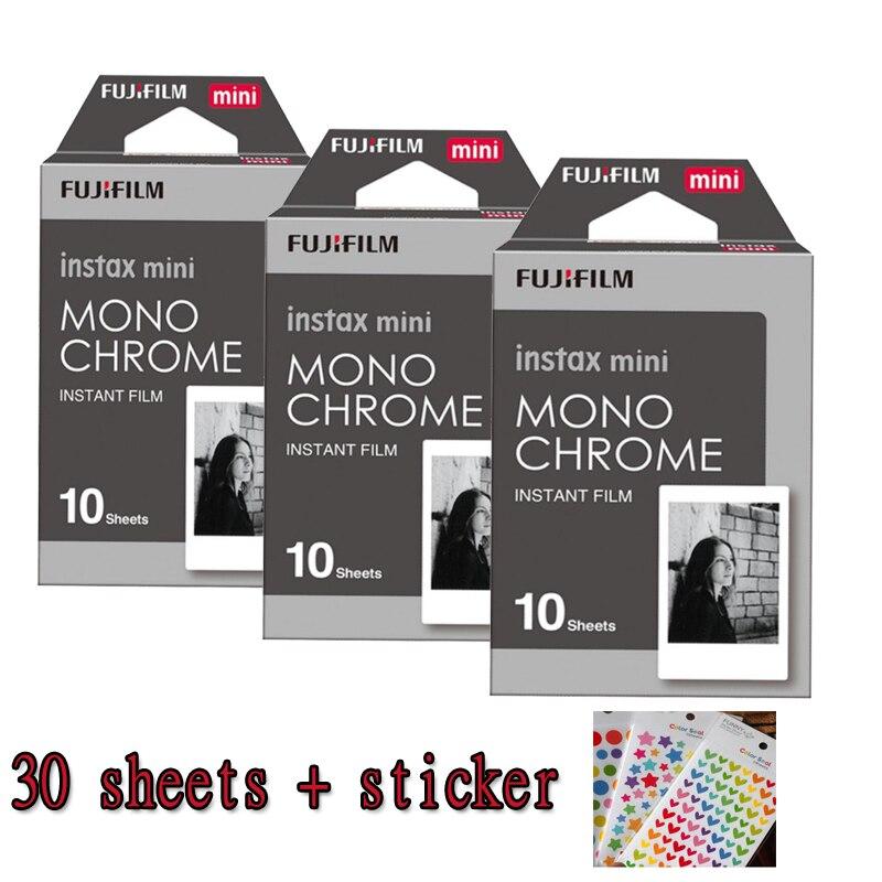 3 paquets Fuji Fujifilm Instax Mini Film instantané Monochrome papier Photo pour Mini 8 7 s 7 50 s 50i 90 25 dw partager des appareils Photo SP-1