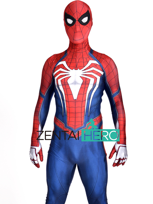 Free Shipping 3D Printed NEW PS4 Insomniac Spiderman Suit Spandex Games Spidey Cosplay Suit Halloween Cosplay Spider-man Costume