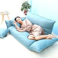YN50 хлопчатобумажная ткань пола мини диван кровать 5 положение Регулируемый двойной диван мебель Гостиная складной диван, компьютерный стул