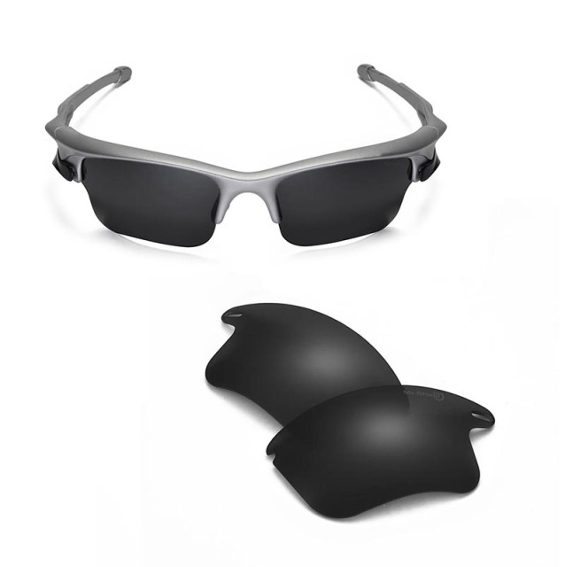 e1d7953ec6 Walleva Mr.Shield High-Grade Polarized Replacement Lenses for Oakley Fast  Jacket XL Sunglasses