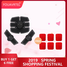 FOUAVRTEL Hot-selling Electrical EMS Abdominal Muscle Toner AB Stimulator Good Machine for women/man