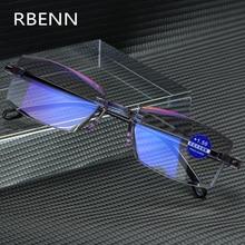RBENN ультралегкие очки для чтения без оправы для женщин и мужчин, анти-голубые легкие компьютерные очки для чтения Пресбиопия для женщин+ 1,5+ 2,5+ 3,5