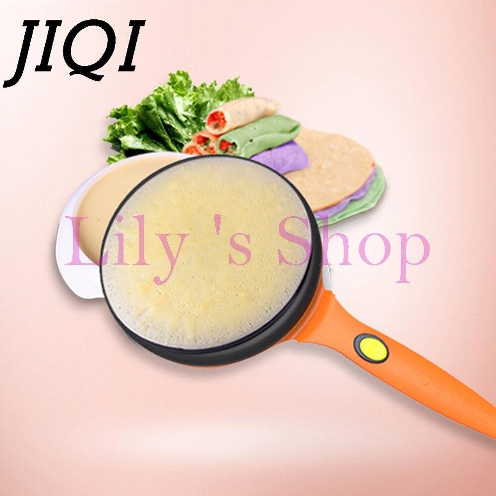 JIQI crêpière électrique cuiseur à tarte Machine à Pizza plaque de cuisson plaque à crêpes chinois printemps plaque de cuisson plaque de cuisson EU US plug