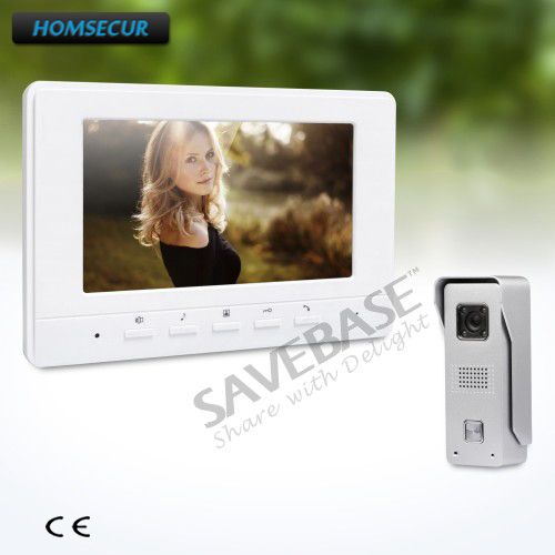 HOMSECUR 7inch Wired Video Door Entry Security Intercom with Russia Logistics+User-friendly Design of Mute Mode