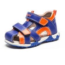 6446eb79d Новый 1 пара мальчик пояса из натуральной кожи детские сандалии  ортопедические, Наивысшее качество Детская летняя обувь