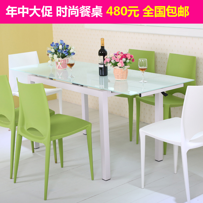 Small Rectangular Tables: Scalable Small Apartment Dining Table Rectangular Glass