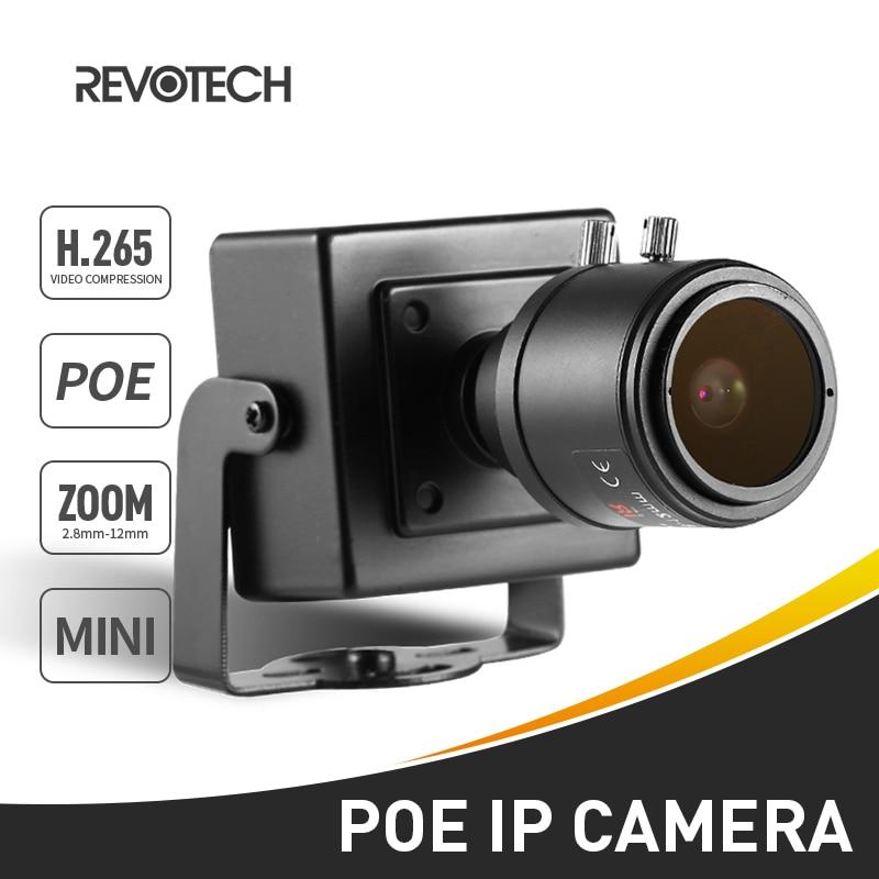 H.265 POE HD 1080P IP Camera 2.8-12mm Manual Zoom Lens 2.0MP Indoor Mini Type Security Camera ONVIF P2P IP CCTV Cam