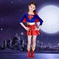 Хеллоуин костюм для детей новые ребенок супер девушка Сексуальная девушка super hero костюм партии cosplay для супер девушка костюм супермена dress