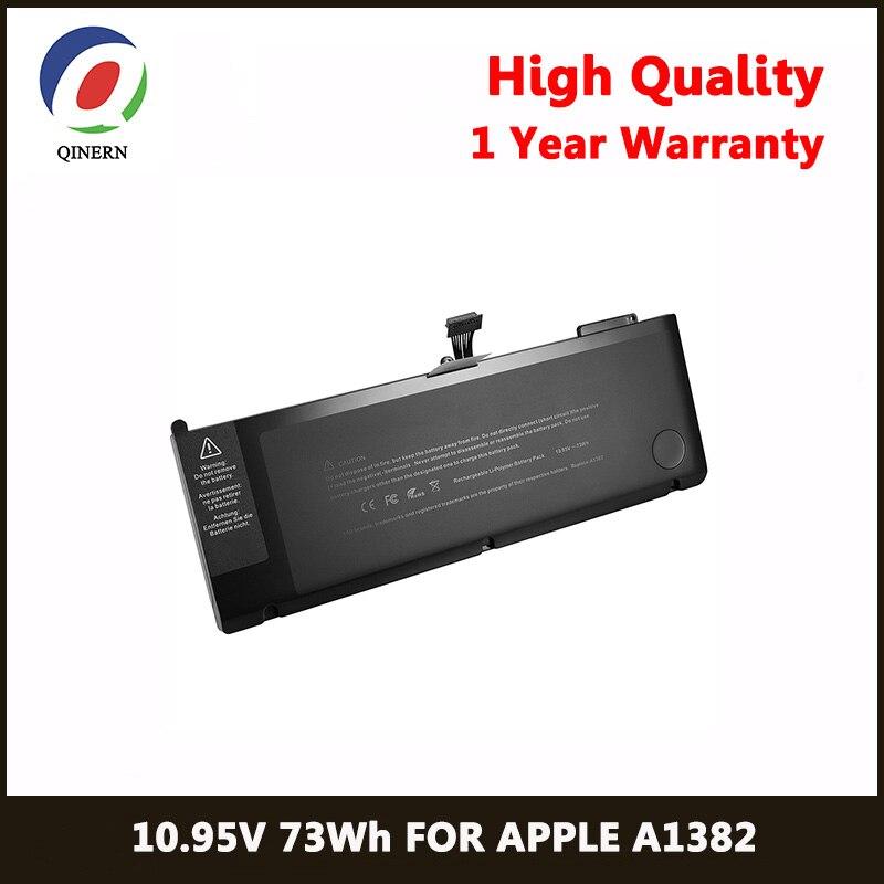 QINERN 10 95V 73Wh Laptop Battery For font b APPLE b font A1382 font b Macbook