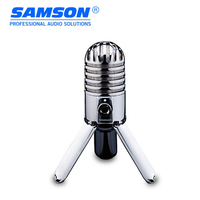 Hot Original SAMSON Meteor Mic USB condenser microphone Studio Mic for computer notebook network Podcasting with Fold back Leg