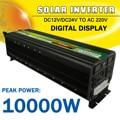 Inversor de energía Solar 10000 W Max DC 12 V/24 V a la CA 220 V LCD pantalla sinusoidal modificada la onda del convertidor de adaptador de carga para la casa de