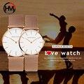 Montre Gießen Paar Uhr Mann und Damen Luxus Marke Rose Gold Japan Bewegung Quarz Wasserdichte Armbanduhren Unisex Reloj Pareja