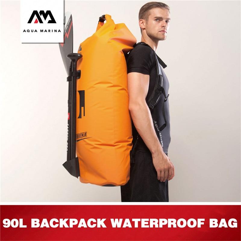 AQUA MARINA Aquatic Sports 90L Waterproof Bag Swimming Dry Bag Large Capacity Waterproof Bag Surfing Drift