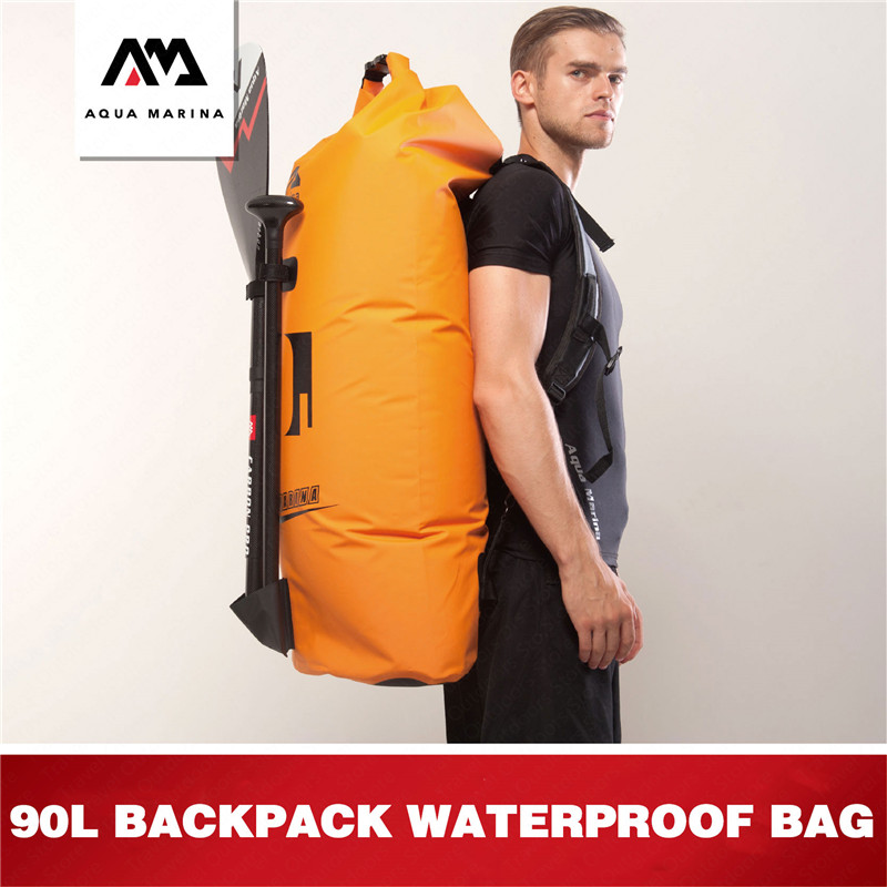AQUA MARINA Aquatic Sports 90L Waterproof Bag Swimming Dry Bag Large Capacity Waterproof Bag Surfing Drift Protable Dry Wet Bag-in Surfing from Sports & Entertainment    1