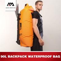AQUA MARINA Aquatic Sports 90L Waterproof Bag Swimming Dry Bag Large Capacity Waterproof Bag Surfing Drift Protable Dry Wet Bag
