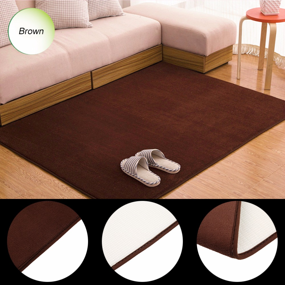6 Colors Soft Coral Fleece Door Mat Non Slip Floor Hallway Kitchen Living Room