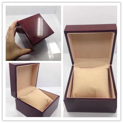 יוקרה תיבת שעון אופנה שעון תיבת שעון עץ עם חבילת כרית מקרה תכשיטי חפצים קופסא מתנה