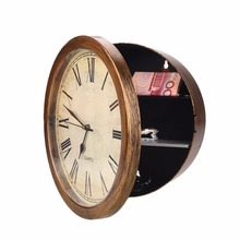 Wall-Mounted Clock Hidden Safes Simulation Safe Money Cash Jewelry Secret Storage Safe Box Hanging Clock Security Strongbox