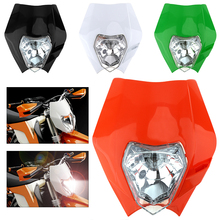 12V 35W Off-road Motorcycle Headlight Assembly with 4 Cable Plug for Honda CRF150 CRF230 CRF50 CRF250 CRF450