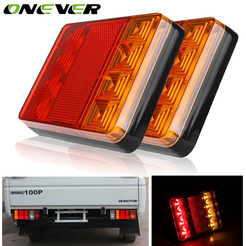 2 Stücke Wasserdicht 8 Auto LED Rücklicht Lampen Pair Bootsanhänger 12 V  Hinten Teile Für Lkw Anhänger Auto Beleuchtung