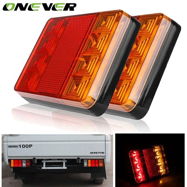 2 Stücke Wasserdicht 8 Auto LED Rücklicht Lampen Pair Bootsanhänger ...