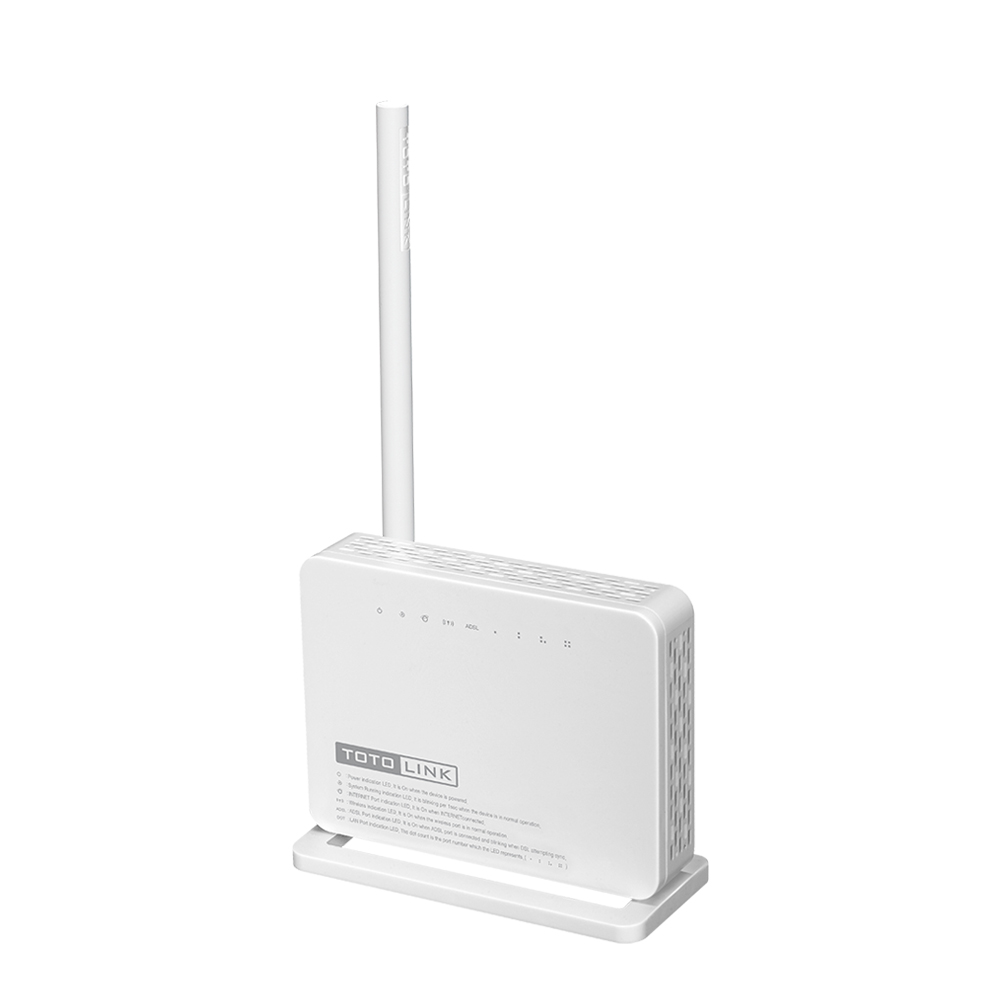 TOTOLINK ND150 150Mbps WiFi ADSL2 2 Modem Router with External Antenna