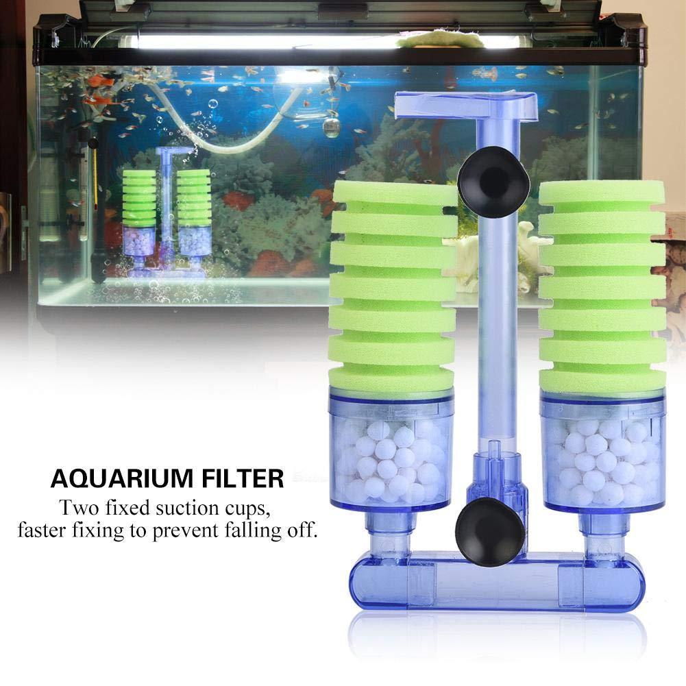 Filtro do aquário Esponja do Filtro de Algodão Bioquímica Usando com Bomba De Oxigênio para o Mini Fish Tank Bomba de Ar Suprimentos Dois Copos de Sucção