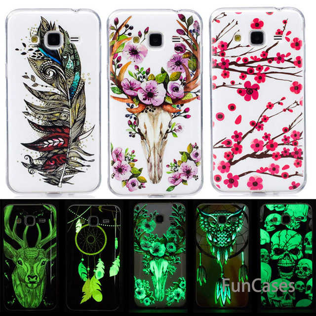 Luminous Transparent Soft TPU Silicone Cover Cases for Samsung Galaxy J3 J5 J7 2015 2016 J310 J320F J500 J510 J700 J710 B68