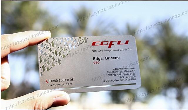 Metallic color metal business cards 100pcs a lot deluxe metal metallic color metal business cards 100pcs a lot deluxe metal business card vip cards reheart Choice Image