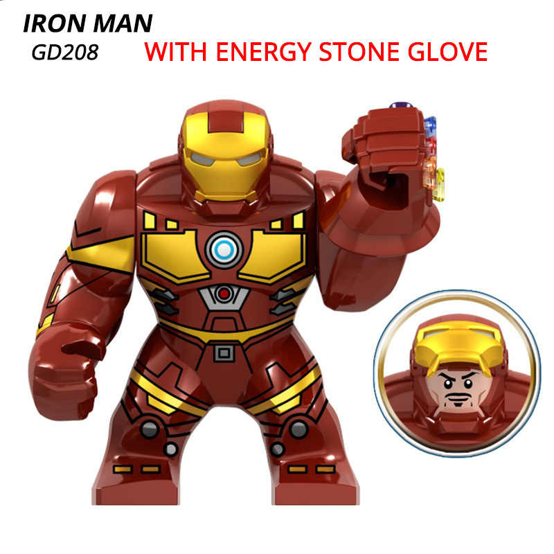 Hulk Thanos Iron Man Infinite ถุงมือ Super Heroes Building Blocks 2019 Marvel Avengers 4 Endgame อิฐของเล่นเด็ก dropshipping