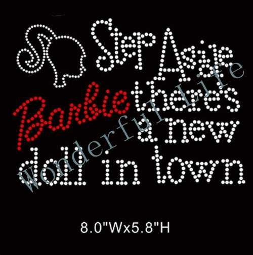 Wonderful Life Barbie girl hot-fix rhinestone transfer Hot Fix Motif  Rhinestone For Garment Accessory 5663b7f22967