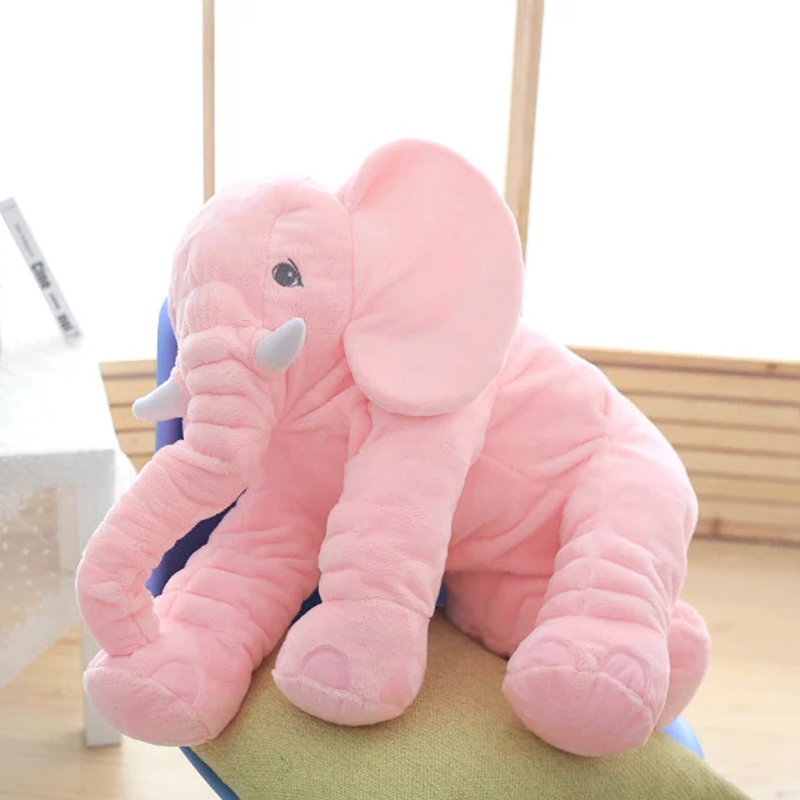 Pink 65cm Height Large Plush Elephant Doll Toy Kid Sleeping Back Cushion Cute Stuffed Elephant Baby Accompany Big Doll Xmas Gift big creative plush elephant toy lovely stuffed jungle elephant gift doll about 80cm