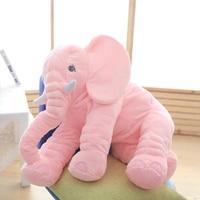 Rosa 65 cm Altezza Grande Elefante Peluche Bambola Giocattolo Bambino Che Dorme Ammortizzatore posteriore Farcito Sveglio Baby Elephant Accompagnare Grande Bambola di Natale regalo