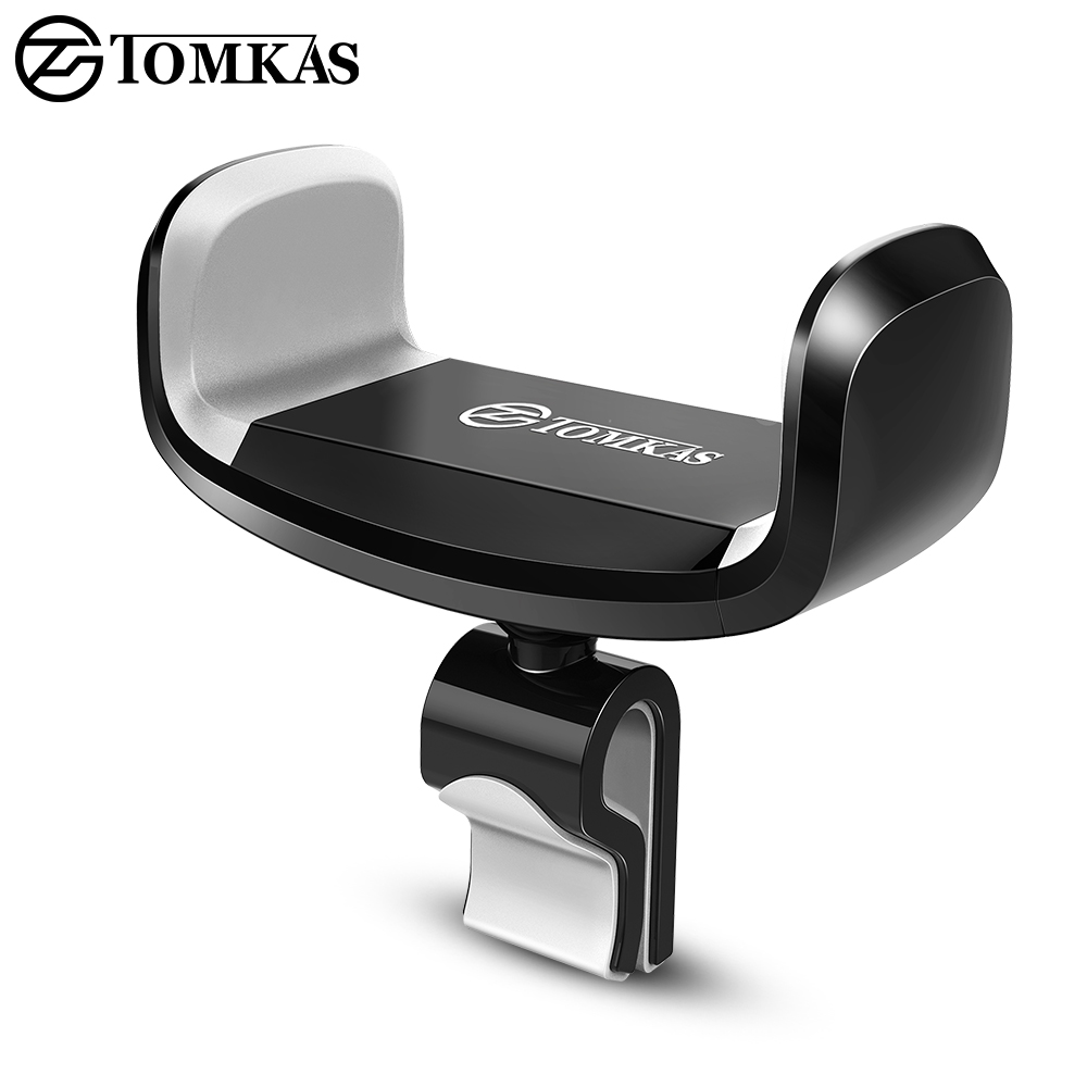 TOMKAS Universal Car Phone Holder para iphone 7 6 5 Air Vent Mount 360 Ajustable Car Holder Soporte para teléfono móvil para Samsung s8 s9
