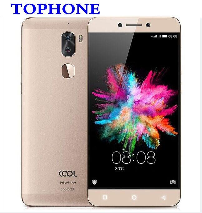 D'origine LeEco Coolpad Cool 1 C103 MSM8976 octa base Android 6.0 Smartphone 5.5 ''4 gb RAM 32 gb ROM 4000 mah 13MP 4g mobile téléphone