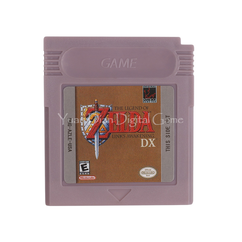 Nintendo GBC Video Game Cartridge Console Card The Legend of Zelda Links Awakening DX English Language Version [50set lot] for nintendo gameboy series game cartridge housing shell replacing cover case for gb gbc gba sp