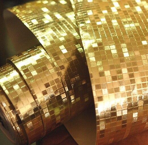 Papier peint argenté doré