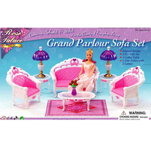 The new case for font b Barbie b font furniture accessories living room sofa sets girls