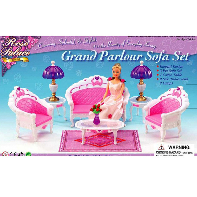The new large scale furniture accessories pink case for barbie dream ...