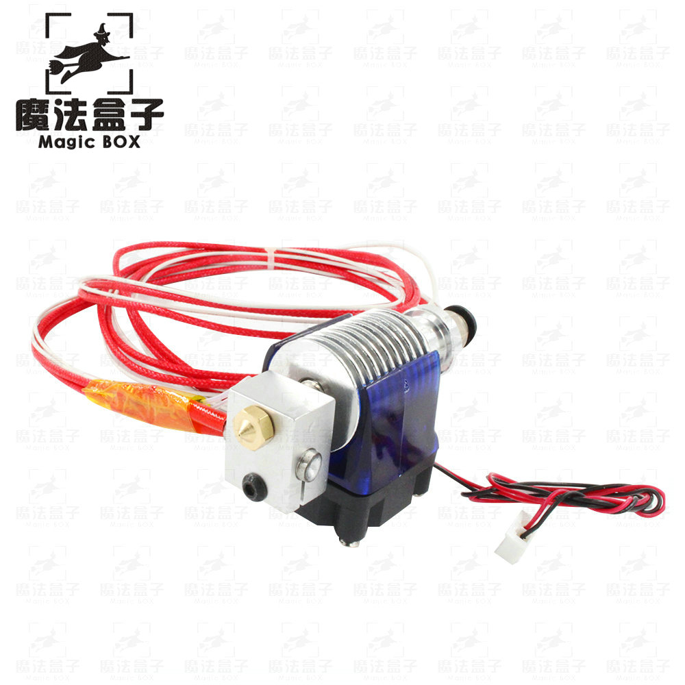 10PCS/LOT Lastest V6 Version J-head Hotend Bowden Extruder with Heater & Thermistor for 1.75/3.0mm 3D Printer Parts 10pcs lot 3d printer ntc thermistor 100 k accuracy 1