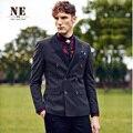 ЭРЛ ДЖОЭЛ Марка Мужчины Clothing2015stripes slim fit мужчин формальный свадебный костюм куртки двойной грудью куртка пальто костюмы бизнес
