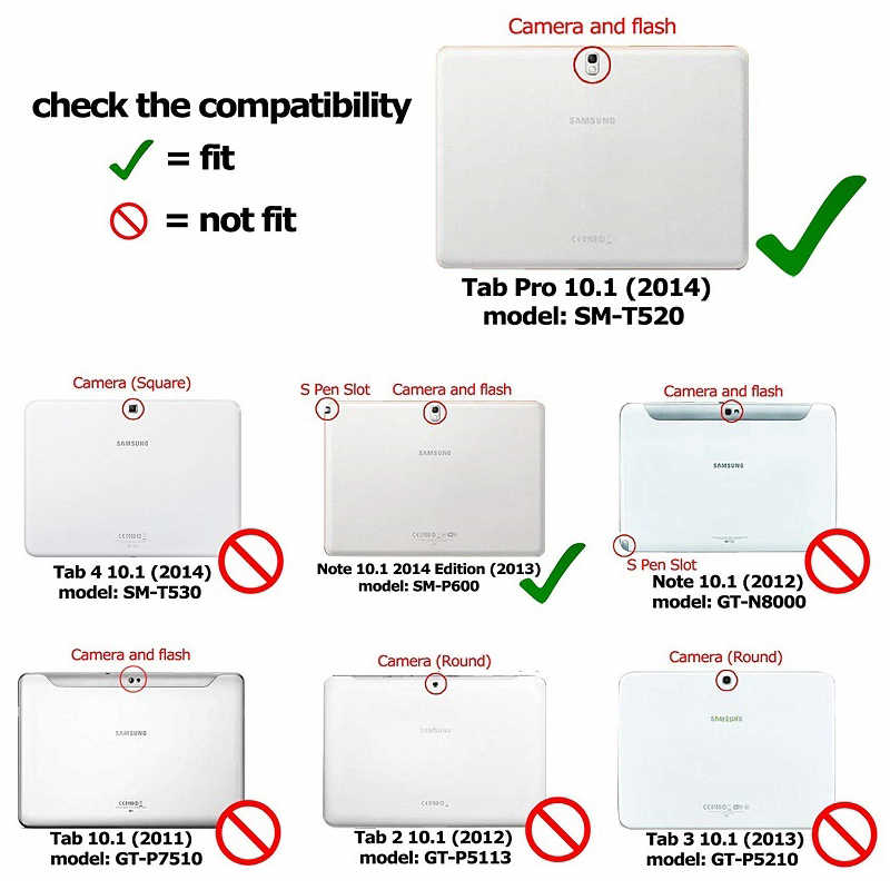 "Tab Pro 10.1 T520 T525 T521 360 Berputar PU Leather Case For Samsung Galaxy Tab Pro 10.1 ""T520 T525 t521Cover Sand Paper Funda"