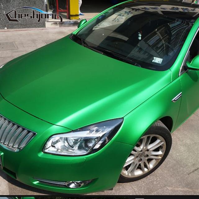 623f8a7b91 Green Matte Chrome Vinyl Car Wraps For full Car Body PVC ICE Sticker Film  With Air Bubble Free Chrome Matt Foil