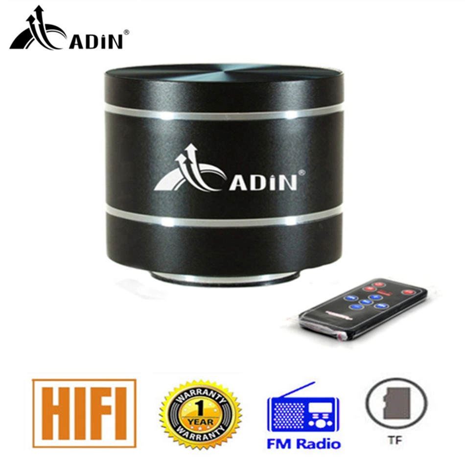 ADIN Vibration Speaker Mini Portable Subwoofer Speakers Remote Control Bass FM Radio HIFI Metal Vibrating Speaker column remote control vibration speaker adin mini portable fm radio speaker mp3 stereo small bass hifi metal tf speaker caixa de som