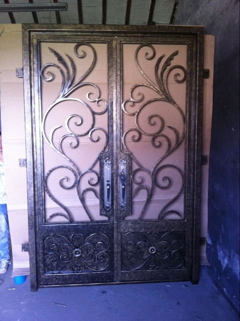 Aliexpress Buy Custom Design Wrought Iron Entry Double Doors