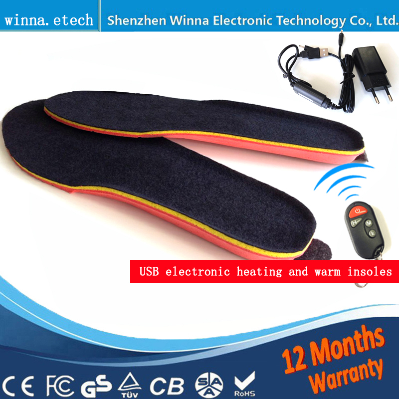 NEW USB MEN INSOLES Էլեկտրական ոտքերի տաքացուցիչ հեռակառավարման ջերմային insoles 1800mAh BLACK Տղամարդկանց 41-46 # Գնել ուղղակի Չինաստանի գործարանից