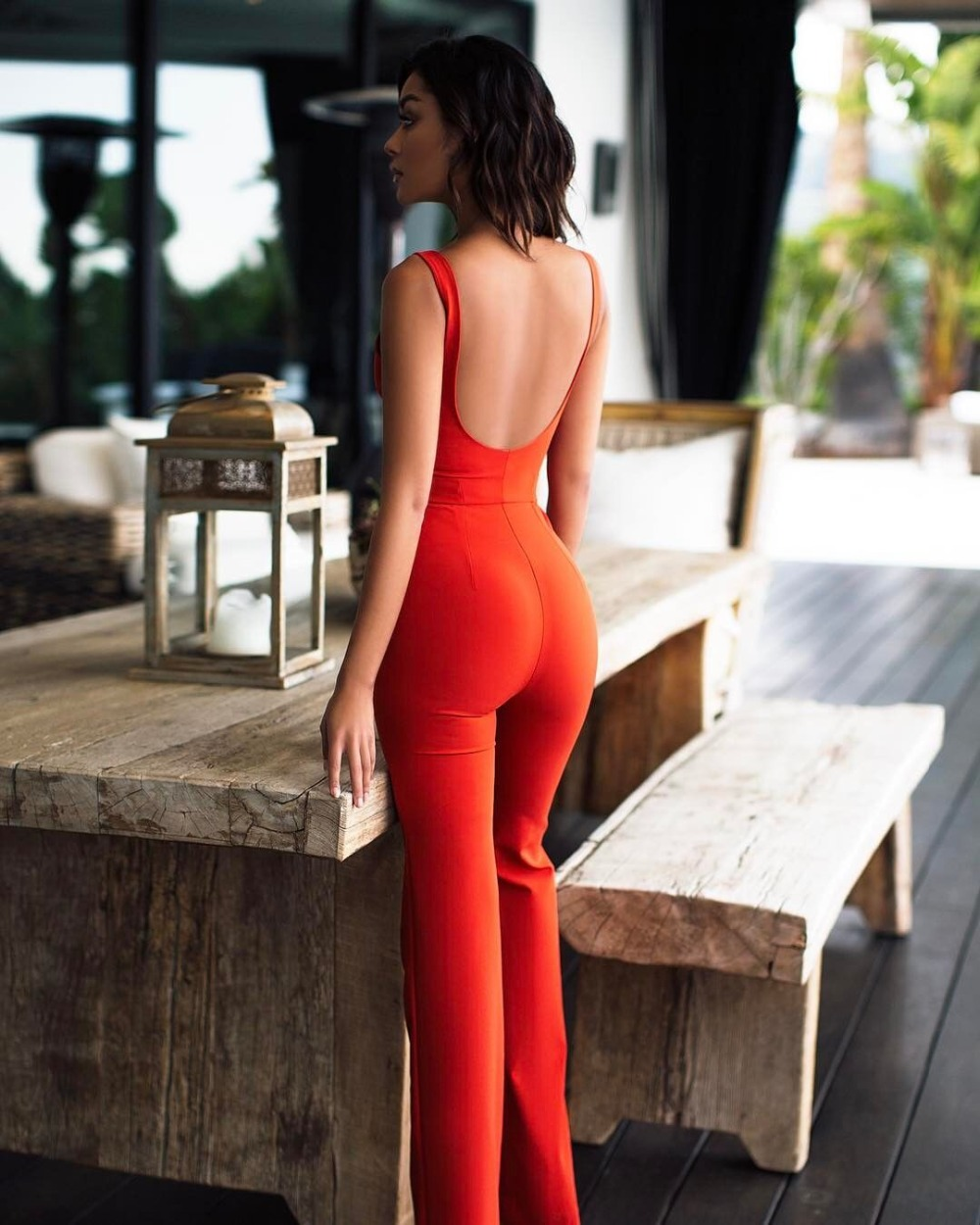 Backless Plunge Fasciatura All'ingrosso Rosso Celebrity Di Tuta 2017 Nuove Hl Sexy Tute Red Body V Estate Donne Bodycon 06qdSAST